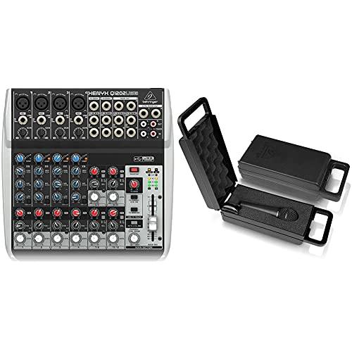 Behringer Q1202USB Xenyx Premium 12 Kanal 2-Bus Mixer mit Mic Preamps/Kompressoren/British EQs Und USB/Audio Interface & Ultravoice XM8500 Dynamisches Gesangsmikrofon mit Nierencharakteristik