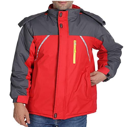 MMCICI Mens Mountain Waterproof Jacket Hooded Lined Fleece Winter Warm Windproof Outdoor Ski Camping Hiking Coat