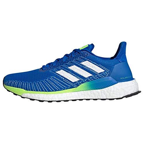 adidas Solarboost 19, Zapatillas de Carretera Hombre, Azul Gloria/Calzado Blanco/Verde Señal, 44 EU
