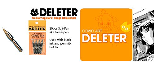 Deleter Manga Comic Saji-Pen/Tama-Pen Nibs Tips 10-Pack