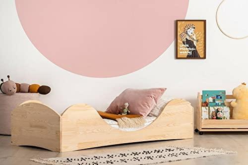 Mami | Cama para niños | Cuna Montessori Baleine | Colchón Smart (no incluido) Altura niño | Color madera natural | Grabado personalizado con frase