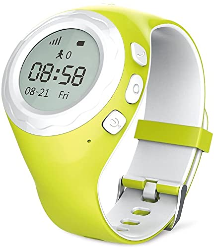 WATCHU for Kids Phone Watch with GPS Tracker - Check Your Child's Whereabouts - SOS Button with Voice Chat - Call Them from Your Mobile - Friendly UK Tech Support (Grasshopper Green)
