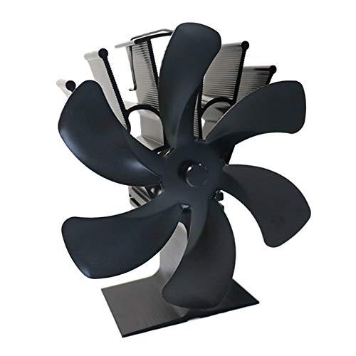 Kaminventilator, Fenteer 6 Flügeln Ofenventilator Lüfter Geräuscharmer, Automatischer & Leiser Betrieb Kamin Ventilator für für Herde, Holzofen und Kaminen