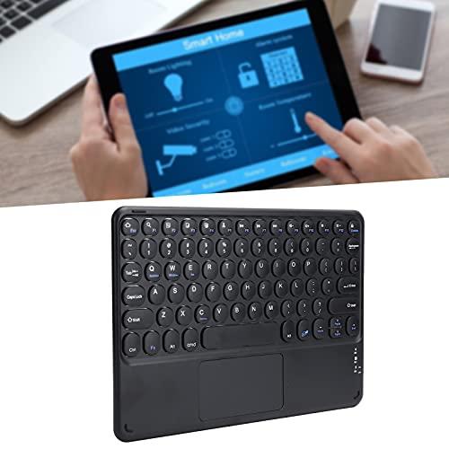 Bluetooth y Teclado, Teclado inalámbrico con Panel táctil Fácil de operar Ultradelgado con Bluetooth para Tableta(Black)