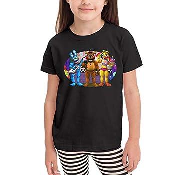 Kids Soft Cotton T-Shirt Five Nights at Freddy s Graphic Cute Shirt for Boys Girls 5-6x Black