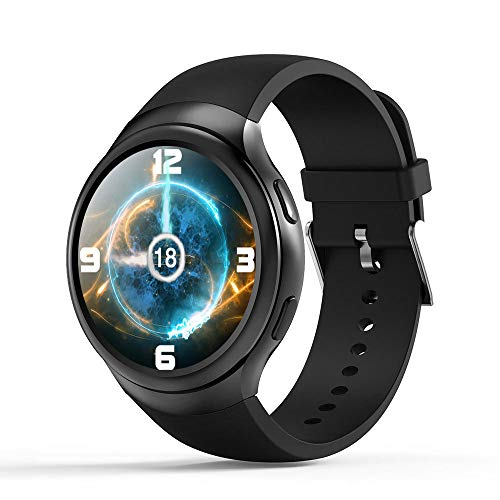 SHWBJ Smart Horloges Fitness Trackers Horloge Smartwatch Band Rond Scherm Android 5.1 Wifi/Gps 3G Oproep Pedomete