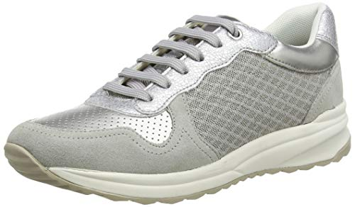 Geox D AIRELL A, Zapatillas para Mujer, Gris (Lt Grey C1010), 38 EU