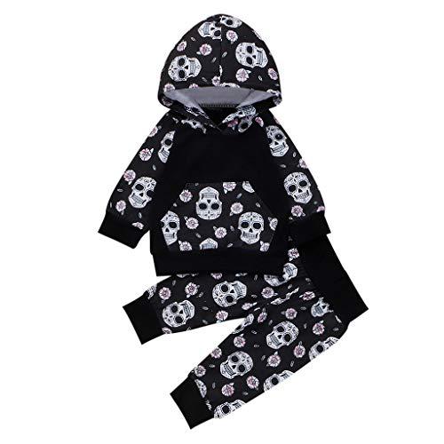 baby jungen Halloween Allence Kleinkind Outfits Set Langarm Hoodie Sweatshirt Floral Hose 2 Stück Baumwolle Kleidung Set für 0-24 Monate