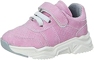 Skippy Velcro Closure Lace-Up Perforated Sneakers for Girls - Pink, 25 EU