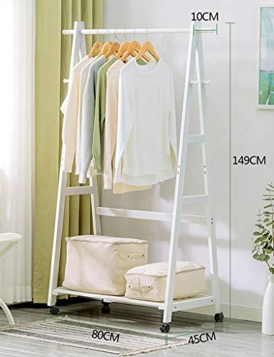 WZC Perchero de almacenamiento de ropa de interior para el hogar, perchero para colgar ropa, perchero, gancho para colgar/Small/Café