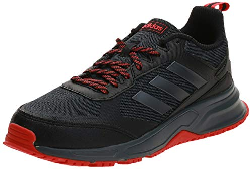 adidas Rockadia Trail 3.0, Scarpe da Corsa da Uomo, Nero (Core Black/Night Met./Active Red), 41 1/3 EU