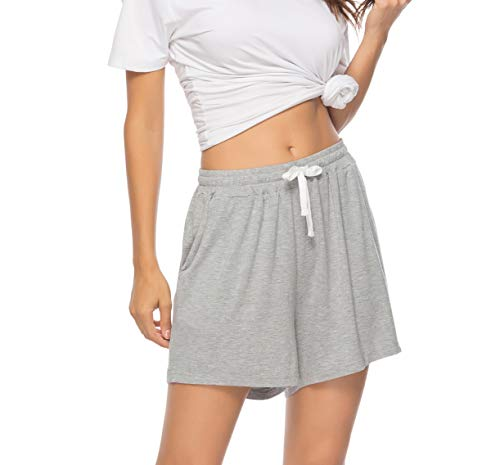 Vlazom Pantalones Cortos de Pijama Mujer Verano - Algodón, Partes de Abajo de Pijamas para Mujer