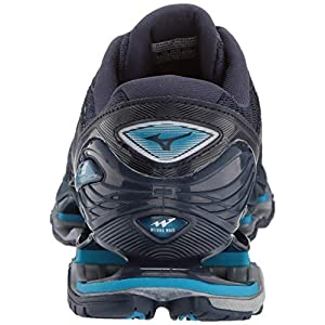 Mizuno Men's Wave Prophecy 8 Running Shoe, Blue Wing Teal-Silver, 8.5 D US