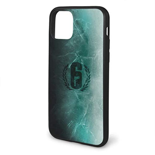 Xcxgsfam Rainbow Six Siege Phone Cases for iPhone 11 Shell Back Soft Cell Mobile Cover Case with TPU+Pc Frame