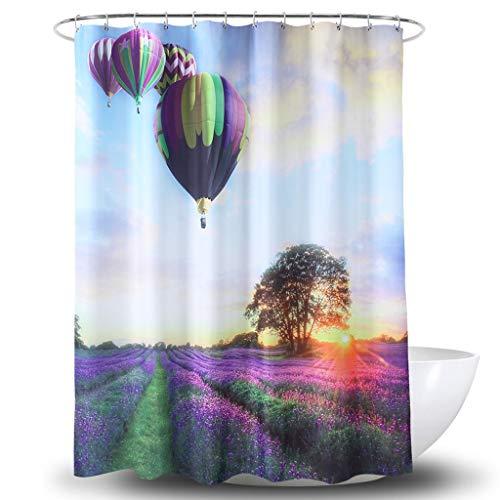 Houlian shop-Shower gordijn douchegordijn waterdicht polyester digitale afdrukken Hot Air Balloon douchegordijn multifunctionele douchegordijn houlian shop-11.7