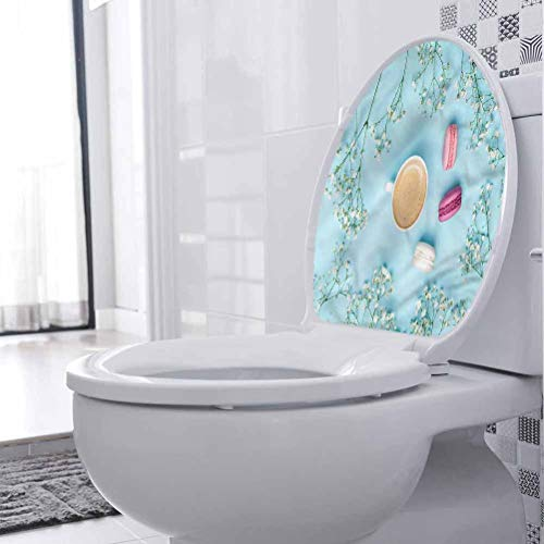 Homesonne - Adhesivo decorativo para pared, color azul, con macarons franceses, 3D, autoadhesivo, para niños, guardería, bebé, adolescente, adulto mayor, 15 x 18 pulgadas