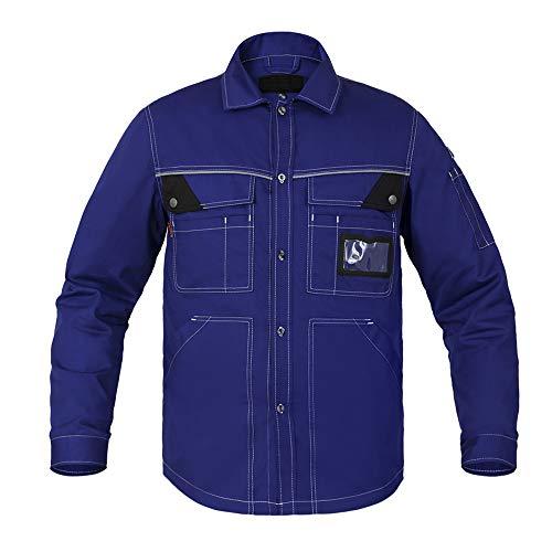 Sicherheitsjacke, Winter Warmer Arbeitsmantel Multifunktions Für Männer, Mit Reißverschluss Und Taschen, Bomberjacke, High Visibility,...
