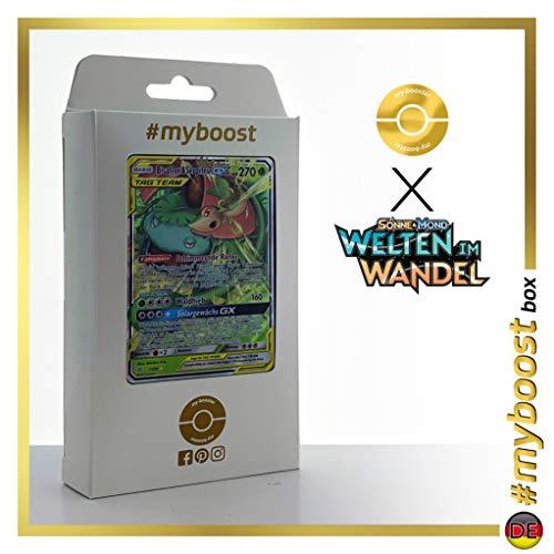 Bisaflor & Serpifeu-GX (Venusaur & Snivy-GX) 1/236 - #myboost X Sonne & Mond 12 Welten im Wandel - Doos met 10 Duitse Pokémon-kaarten