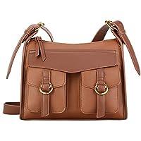 Plambag Faux Leather Vintage Satchel Shoulder Handbag