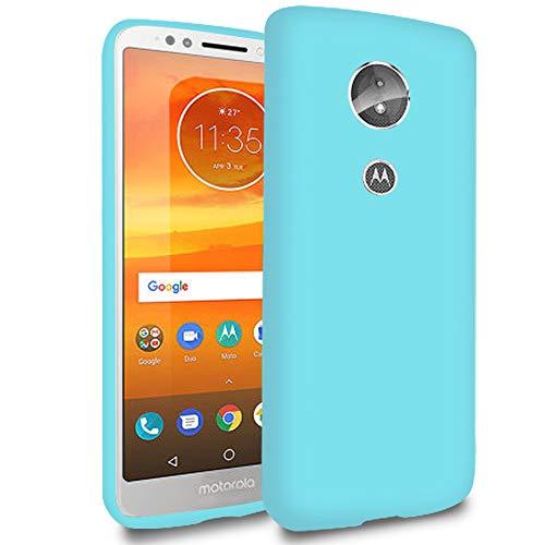 Slim Hülle für Motorola Moto E5 | Unifarben Tasche in Türkis