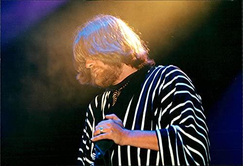 "Ebbot Lundberg of rock band""The Soundtrack of Our Lives"" at the Lollipop Festival - Vintage Press Photo"