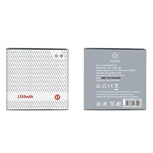 Todobarato24h Bateria Compatible con BT-1350-259 BQ AQUARIS 3.5 1350MAH 3.7V 5WH