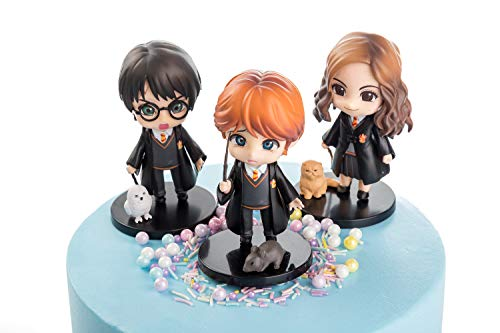 Harry Potter cake toppers figures Characters set of 3 exquisite Action Figure cake decoration cupcake topper