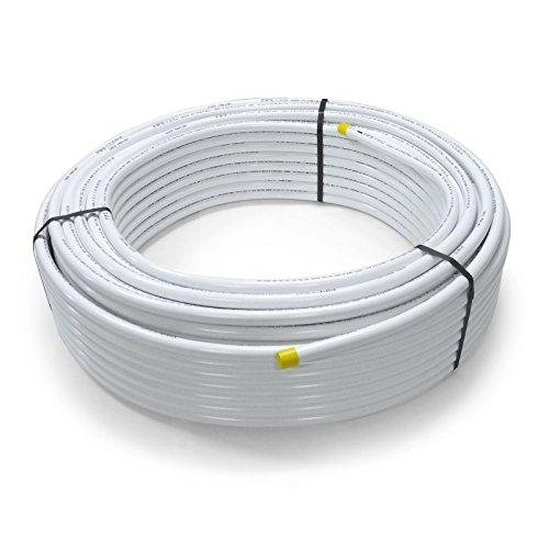 Pipetec Aluverbundrohr Aluminium Mehrschichtverbundrohr 26x3 mm 25m weiss PEX-Rohr...