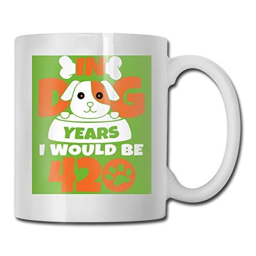 in Dog Years Taza, taza de café para bebidas calientes, taza de gres, taza de café de cerámica, taza de té de 11 onzas, divertida taza de regalo para té y café