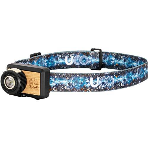 UCO Beta 200 Lumen LED Headlamp with Variable Brightness and Adjustable Strap, Wood Grain