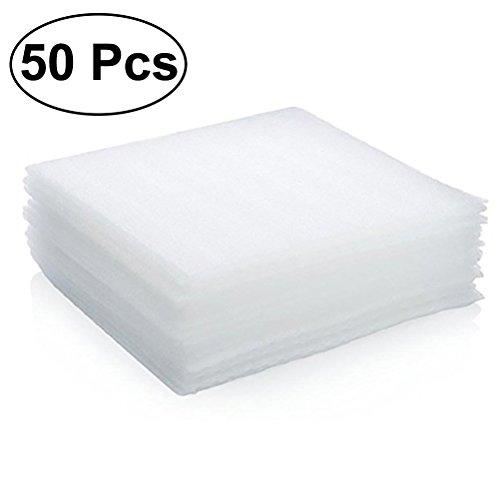 OUNONA - Juego de 50 láminas de espuma de polietileno expandido para jarrones y vasos, platos de gafas, artículos frágiles, protección de embalaje, 30 x 30 x 0,5 cm (color blanco)