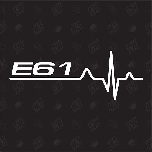 speedwerk-motorwear E61 Herzschlag - Sticker für BMW, Tuning Fan Aufkleber