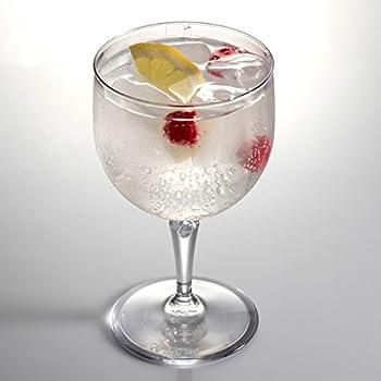 Juego de 3 vasos Copas balon pl/ástico para Gin c/óctel reutilizables policarbonato irrompibles gintonic 72 cl