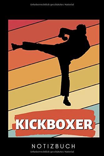 KICKBOXER NOTIZBUCH: A5 Notizbuch KARIERT Kickboxen | Kickbox Buch | Boxen | Kampfkunst Bücher | Kampfsport | Training | Trainingsbuch | Kickboxer | Sport | Kampfsportler