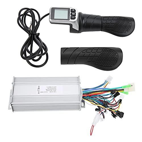 RiToEasysports Controlador sin escobillas de Motor de Scooter eléctrico 36V / 48V 1000W Caja de Control de Motor con Acelerador de Medio Giro LCD