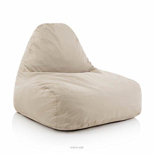 LUCID Oversized Shredded Foam Lounge Chair - Khaki