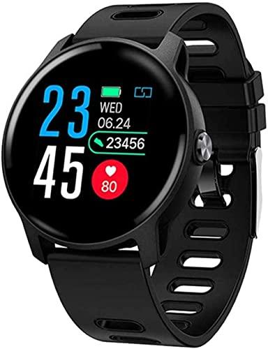 Reloj Inteligente Ip68 Impermeable Monitor De Ritmo Cardíaco Reloj Inteligente Bluetooth Reloj Inteligente Actividad Fitness Tracker Band-Negro
