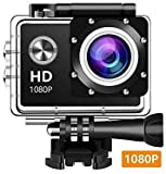 V.T.I HD1080P Action Waterproof Sports Camera with 2-inch LCD, Waterproof Diving/Sports Camcorder