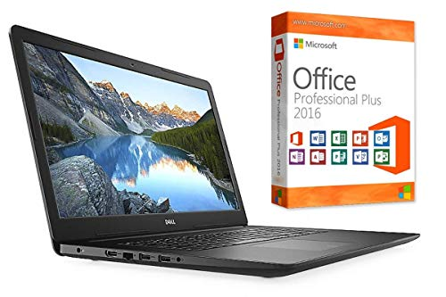 "Laptop INSPIRON 3782 - 8GB DDR4-RAM - 256GB SSD - Windows 10 PRO + MS Office 2016 PRO - 44cm (17.3\"") MATT - CD/DVD Brenner"