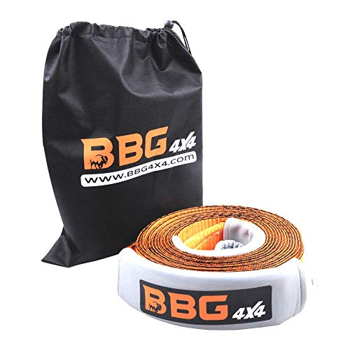 BBG4x4 Heavy Duty Recovery Tow Strap 3 in x 30 ft for SUV, Trucks and Jeep + Free Storage Bag and Wrap Tie
