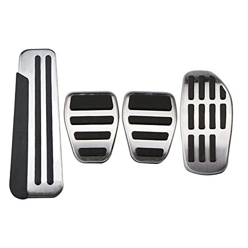 LBLDD Pedales Pedales De Coche De Acero Inoxidable para Renault Koleos 2 Kadjar para Samsung Qm6 2016-2020 Cubierta De Pedal De Freno De Gas Tapas De Pedal De Recuperación (Color: At)