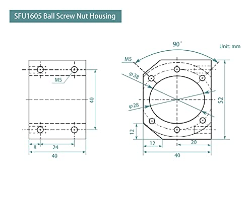 1605 ball screw dimensions _image2