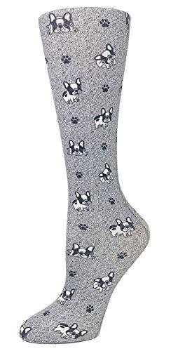 Cutieful 'Knee High Compression Socks 8-15 mmHg' Footwear (French Bulldog, Women's Shoe Sizes 5-11)