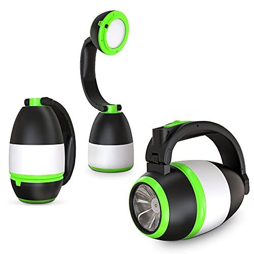B.K.Licht I LED Outdoorlampe I 3 in 1 Tischleuchte, Taschenlampe, Campinglampe I 2 Helligkeitsstufen I Tragegriff I klappbar I Batteriebetrieben