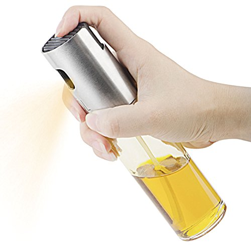 orlanPortable Olive Oil Sprayer Dispenser for Cooking/BBQ/Salad/Stainless Steel Grilling Oil glass Bottle