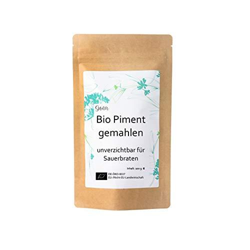 Suna® Bio Piment gemahlen | unverzichtbar für Sauerbraten | Päckchen 100 g