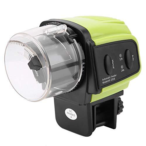 Pssopp Alimentador automático de Peces Máquina Inteligente de alimentación de Tanques de Peces Temporizador Digital Unidad de alimentación de Alimentos Alimentador de Tortugas Alimentado por batería