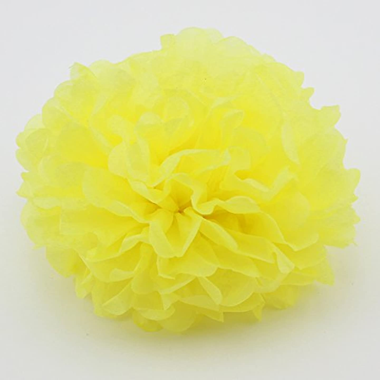 Since ? 8-Inch Tissue Pom Poms Party Decorations for Weddings, Birthday Parties and Baby Showers,Set of 5 (Yellow)