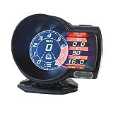 タコメーター OBD2 マルチメーター スピードメーター 後付け 多機能メーター バッテリー電圧 水温計 日本語説明書付き ポン付け 車 XAA379