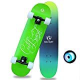 XCBW Monopatín Completo para niños Monopatín de Doble Patada de 31 `` x7.8 '', con patinetas estándar de Cubierta de Arce de Coloridas Ruedas Intermitentes, para jóvenes Adultos, Principiantes